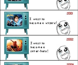 harry potter, lol, and spiderman image