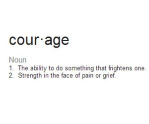 courage, noun, and definition image