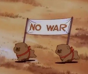 no war, puppy, and dog image