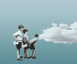 blue, kids, and sky image