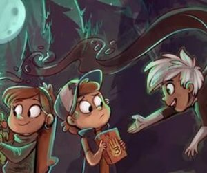 crossover, danny phantom, and gravity falls image