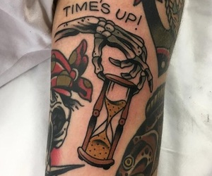 arm, tattoo, and time image
