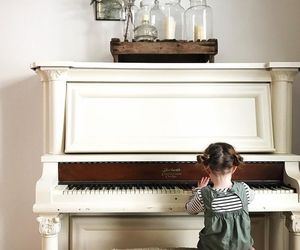floral, photography, and piano image