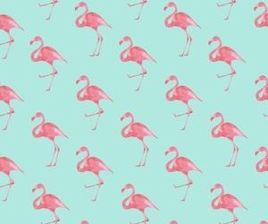 flamingo, wallpaper, and pattern image