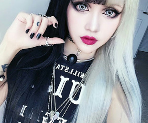 goth, hair, and pastel image