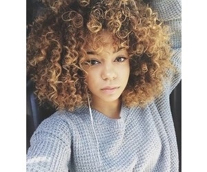 Afro, blonde, and brown skin image