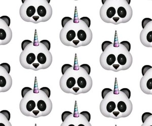 panda, unicorn, and wallpaper image