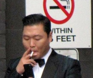 psy, smoking, and kpop image