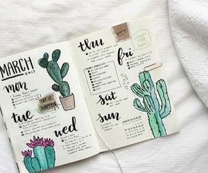 diary, planner, and timetable image