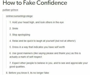 confidence, tumblr, and Words to Live By image