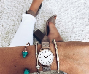 bracelets, jewels, and watch image