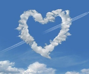 sky, heart, and aesthetic image