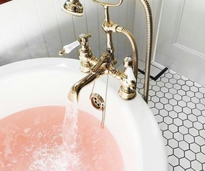 bath, pink, and article image