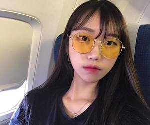 asian, girl, and sunglasses image