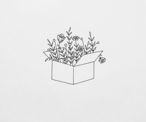 aesthetic, drawing, and flower image