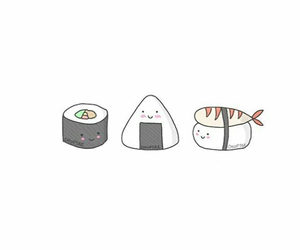 sushi, cute, and food image