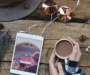 we heart it, autumn, and coffee image