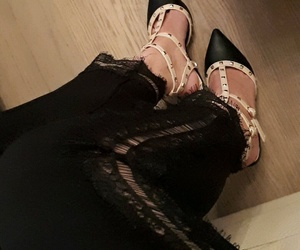black, shoes, and Valentino image