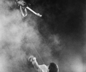black and white, Jimi Hendrix, and old image