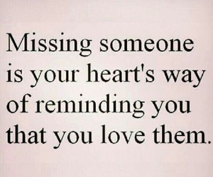 love, missing, and heart image