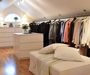 closet, home, and walk-in closet image