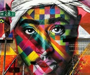 2pac, rap, and tupac shakur image