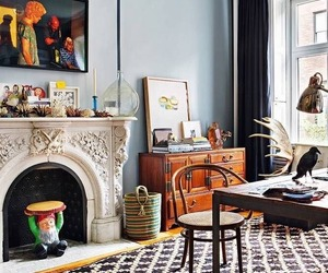 home, decor, and brownstone image