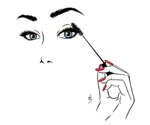 eyelashes and make up image
