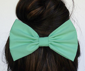bow, teal, and cute image