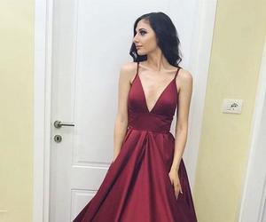 prom dress, burgundy prom dresses, and prom dresses image