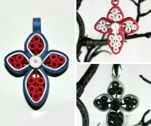 cross, handmade jewelry, and cross necklace image
