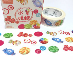 sweet candy, washi tape, and japanese candy image