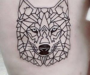 girl, tattoo, and geometric image
