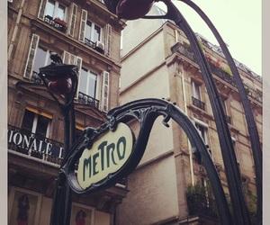 metro, paris, and street image
