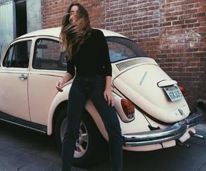 girl, fashion, and car image