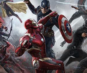 civil war, captain america, and iron man image