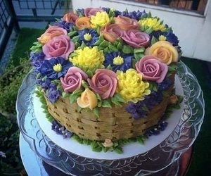 cake, beautiful cake, and cake roses image