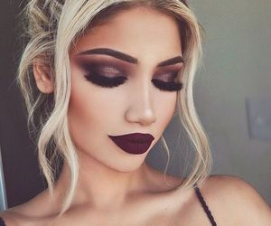 blonde, fashion, and lips image