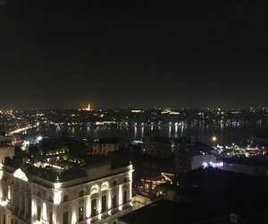 istanbul, sea, and lights image