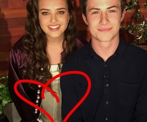 katherine langford, dylan minnette, and 13 reasons why image