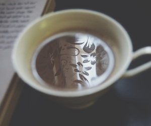 book, cup, and Hot image