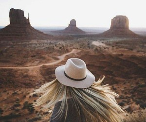 travel, girl, and hair image