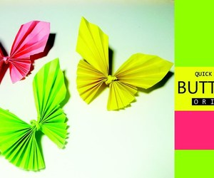 origami, origami butterfly, and paper buterfly image