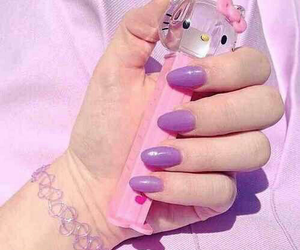 pink, pastel, and nails image
