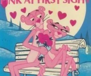 pink panther, love, and cartoon image