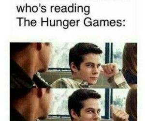 the hunger games, book, and teen wolf image