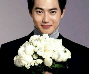 cute boy, exo, and flower image