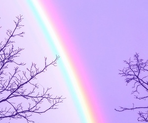 rainbow and wallpaper image