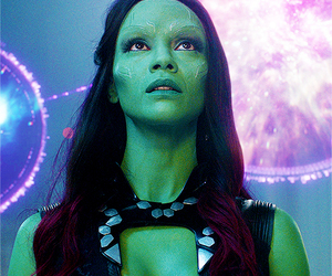 gamora, guardians of the galaxy, and Marvel image