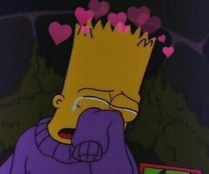 sad, simpsons, and cry image